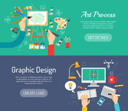 Creative Process Banners Royalty Free Stock Photos