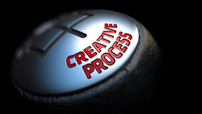 Creative Process on Car's Shift Knob Stock Image