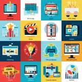 Creative Process Concept Icons Set Stock Image