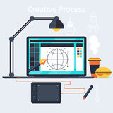 Creative process of designer concept Stock Photo