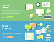 Creative Process and Digital Marketing Concept Royalty Free Stock Image