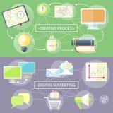 Creative Process and Digital Marketing Royalty Free Stock Photo