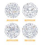 Creative Process Doodle Illustrations vector illustration