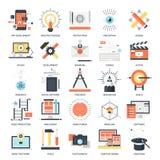 Creative Process icons Royalty Free Stock Photo