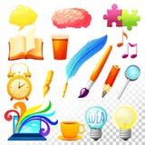 Creative Process Icons Set Royalty Free Stock Image