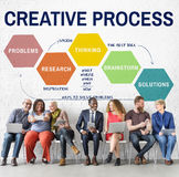 Creative Process Ideas Creativity  Thinking Planning Concept Royalty Free Stock Photos