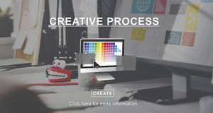 Creative Process Ideas Graphic Design Layout Concept royalty free stock photography