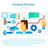 Creative process vector illustration Stock Images