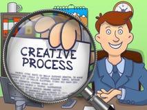 Creative Process through Lens. Doodle Design. Stock Images