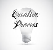 Creative process lightbulb sign Stock Photos