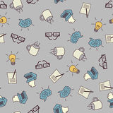 Creative process seamless pattern Royalty Free Stock Photos