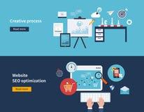 Creative process and SEO stock illustration