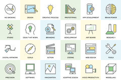 Creative Process Vector Icons 1 Royalty Free Stock Photo