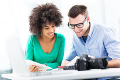 Creative professionals working together Stock Image