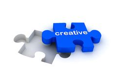Creative puzzle Royalty Free Stock Photography