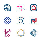 Creative puzzle edit future IT software  technology development company logo. Enjoy Royalty Free Stock Image