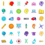 Creative puzzle icons set, cartoon style Stock Photo