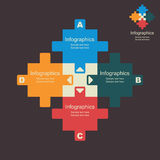 Creative puzzle info-graphics. Stock Royalty Free Stock Photography