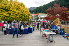 Creative Queenstown Arts and Crafts Markets which is located at the lake front at Earnslaw Park in Queenstown. Royalty Free Stock Image