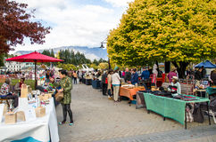 Creative Queenstown Arts and Crafts Markets which is located at the lake front at Earnslaw Park in Queenstown. Stock Images