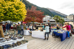 Creative Queenstown Arts and Crafts Markets which is located at the lake front at Earnslaw Park in Queenstown. Stock Image