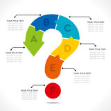 Creative question mark info-graphic Stock Photos