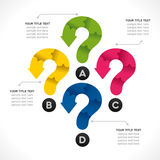 Creative question mark info-graphic Stock Images