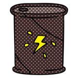A creative quirky comic book style cartoon barrel of fuel. An original creative quirky comic book style cartoon barrel of fuel vector illustration