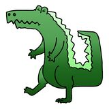 A creative quirky gradient shaded cartoon crocodile. An original creative quirky gradient shaded cartoon crocodile vector illustration