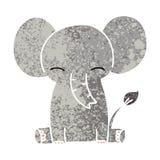 A creative quirky retro illustration style cartoon elephant stock illustration