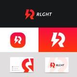 Creative R letter logo icon sign vector design. R letter logo icon sign vector design Stock Images