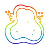 A creative rainbow gradient line drawing cartoon amoeba. An original creative rainbow gradient line drawing cartoon amoeba vector illustration