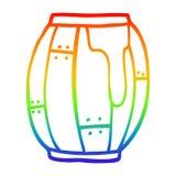 A creative rainbow gradient line drawing cartoon beer barrel. An original creative rainbow gradient line drawing cartoon beer barrel stock illustration
