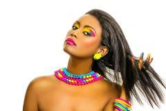 Creative Rainbow Make Up Stock Photo