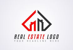 Creative Real Estate Logo design for brand identity, company pro. File or corporate logos with clean elegant and modern style Royalty Free Stock Images