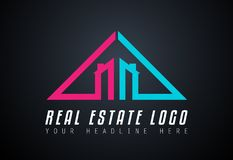 Creative Real Estate Logo design for brand identity, company pro. File or corporate logos with clean elegant and modern style Royalty Free Stock Photo