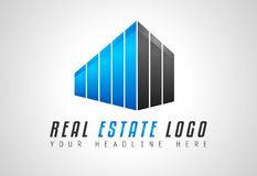 Creative Real Estate Logo design for brand identity, company pro. File or corporate logos with clean elegant and modern style Stock Photos