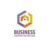 Creative Real Estate logo. Property and Construction Logo design Vector, colorful homes logo concept, neighbor house logo, hexagon house logo vector Royalty Free Stock Photos