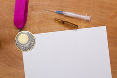 Creative reception problems of doping. Stock Images