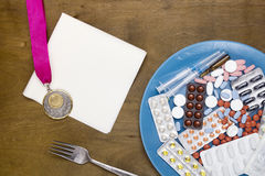 Creative reception problems of doping Stock Photo