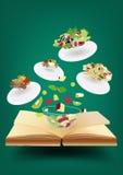 Vector recipe book concept idea Stock Photo