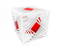 Creative red cube Royalty Free Stock Images