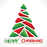 Creative red green chrismtas tree design Stock Photography