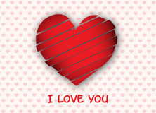Creative red heart background Royalty Free Stock Image