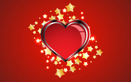 Creative red heart background Royalty Free Stock Photography