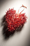 Creative Red Heart from Sticks Royalty Free Stock Photography