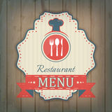Creative restaurant menu cover design, label Royalty Free Stock Photography