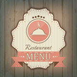 Creative restaurant menu cover design wit cooker icon Stock Photography