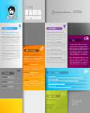 Creative resume template with place for your photo. Stock Photography