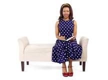 Creative Retro Female Author Writing Royalty Free Stock Photo